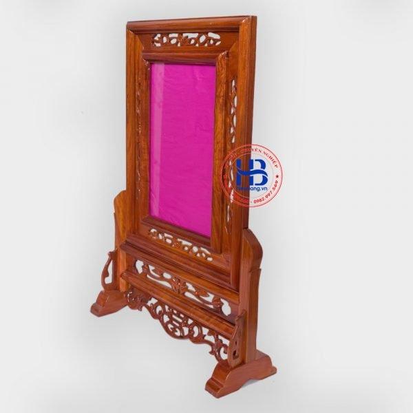 khung ảnh thờ kép gỗ hương