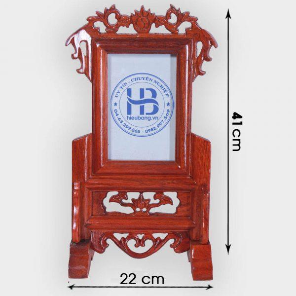 Khung ảnh thờ gỗ Hương 13x18cm đẹp giá rẻ tại Hà Nội