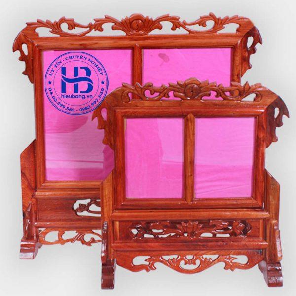 khung ảnh thờ đôi gỗ hương