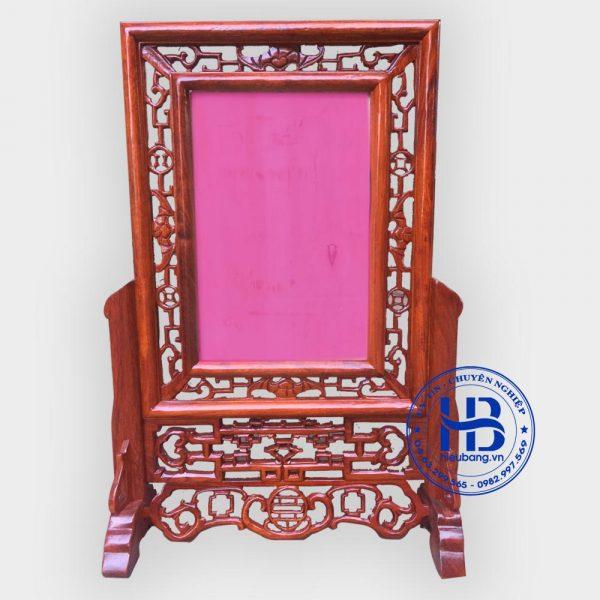 khung ảnh thờ kép rơi tiền gỗ hương