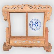 khung ảnh thờ đôi gỗ hương chân rồng