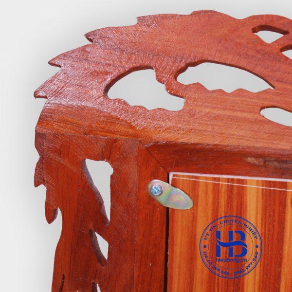 Khung thờ đôi gỗ hương chân rồng