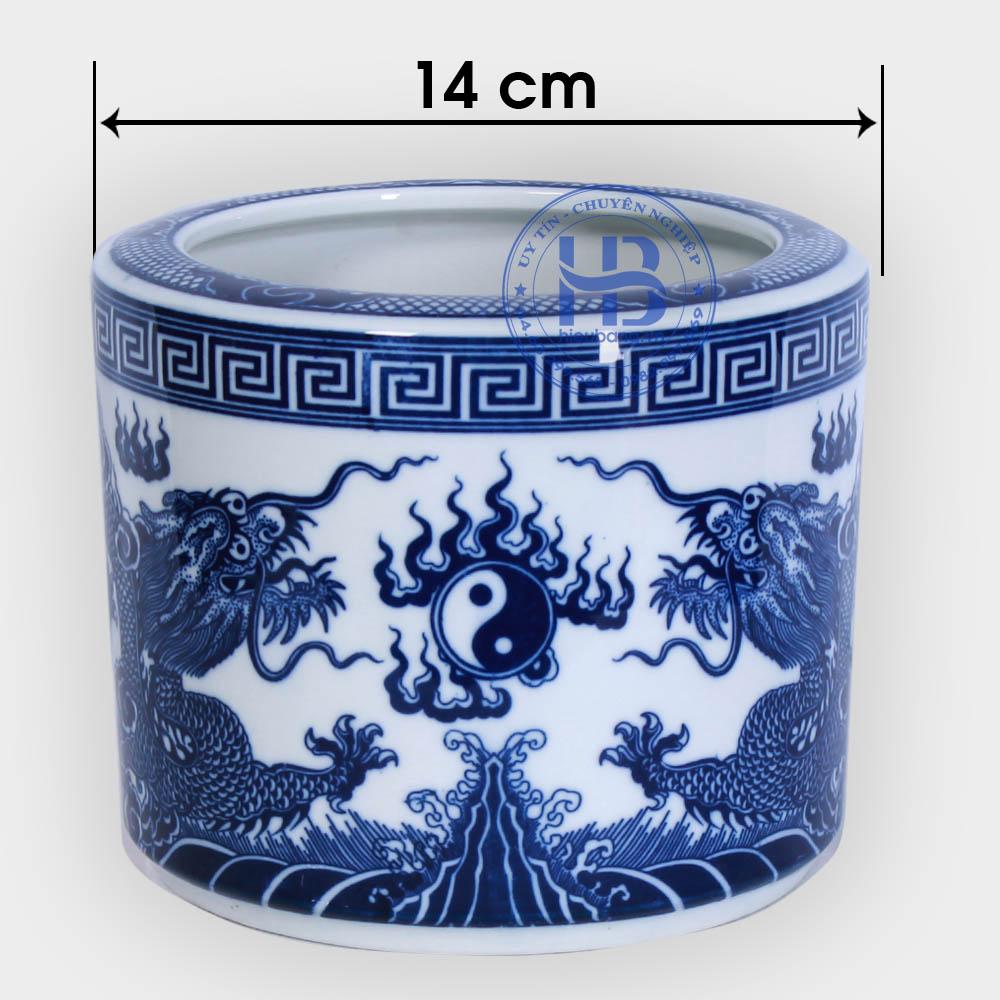 Bát hương bát tràng đường kính 14cm