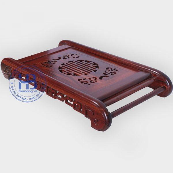 Khay trà gỗ cẩm lai