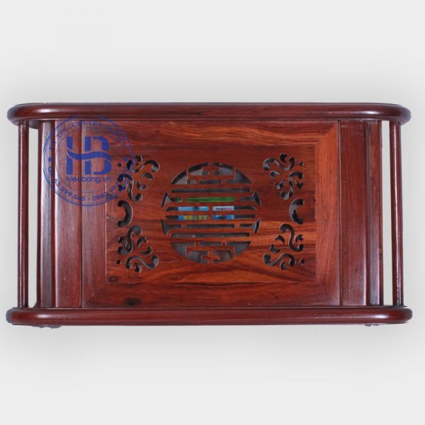 Khay trà bằng gỗ cẩm lai