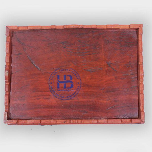 khay trà vuông gỗ hương đẹp hà nội