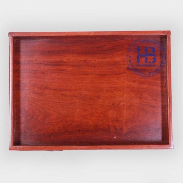 khay trà vuông gỗ hương