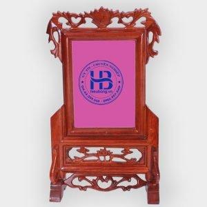 Khung ảnh thờ đôi gỗ hương 15x21cm