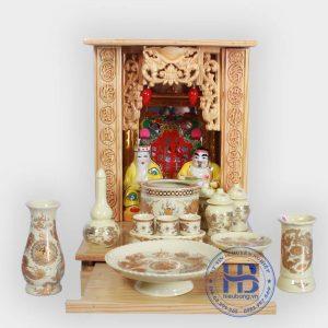 Bộ bàn thờ thần tài giá rẻ 36cm cơ bản Vàng