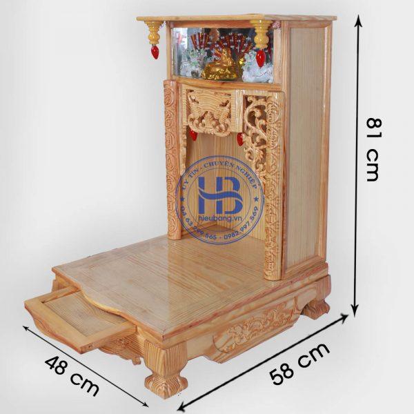 Bàn thờ thần tài đẹp 48cm