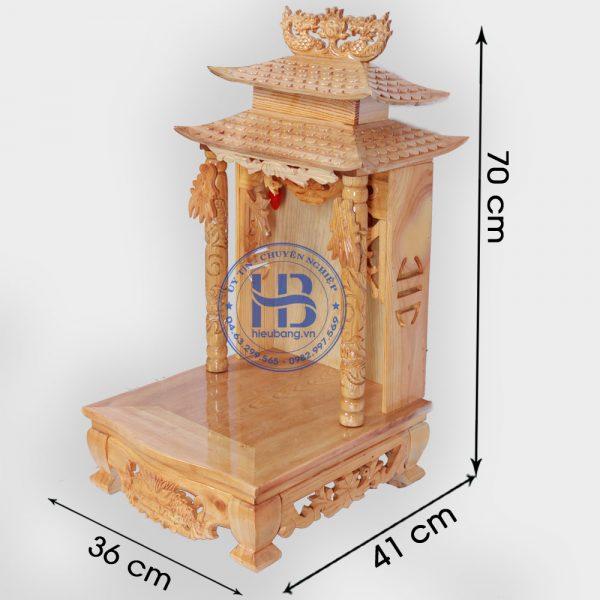 bàn thờ thần tài mái chùa
