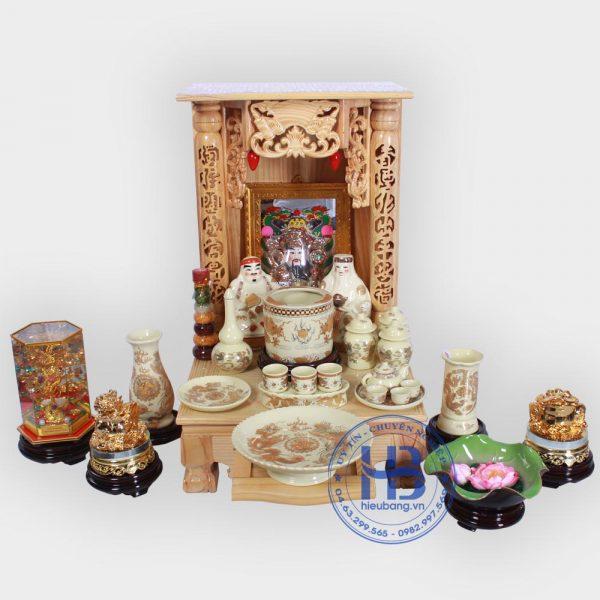 Bộ bàn thờ thần tài 41cm đầy đủ Vàng