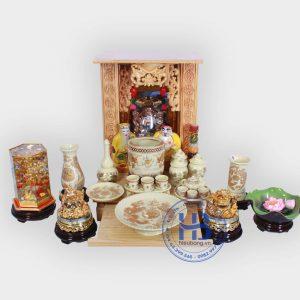 Bộ bàn thờ thần tài giá rẻ 36cm đầy đủ Vàng