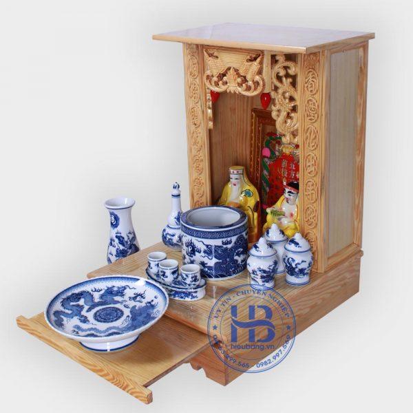 Bộ bàn thờ thần tài giá rẻ 41cm cơ bản Xanh