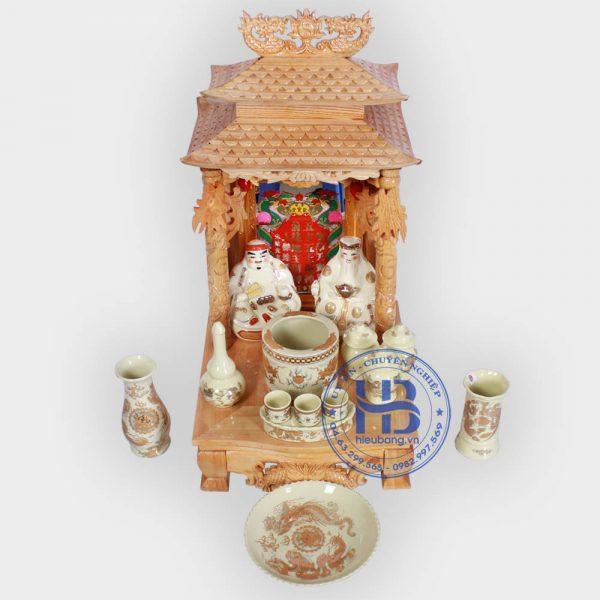 Bộ bàn thờ thần tài mái chùa 36cm cơ bản Vàng