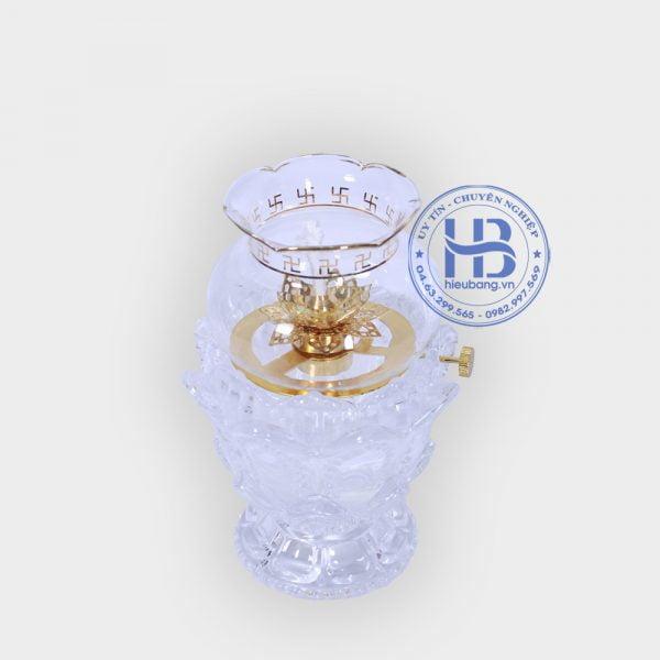 đèn dầu thờ phật trắng 038