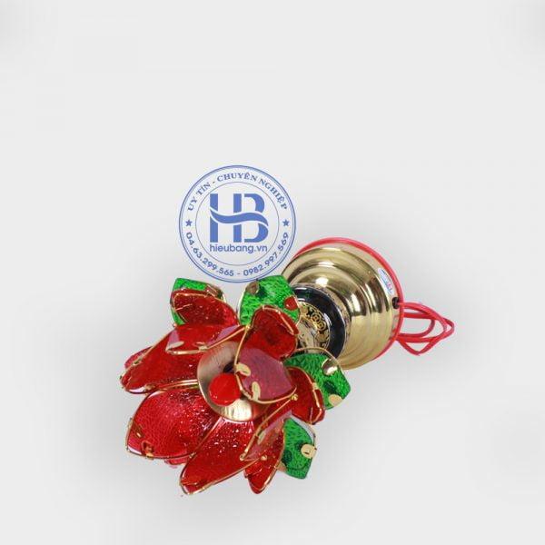 Đèn thờ hoa sen 1 bông đỏ 20cm
