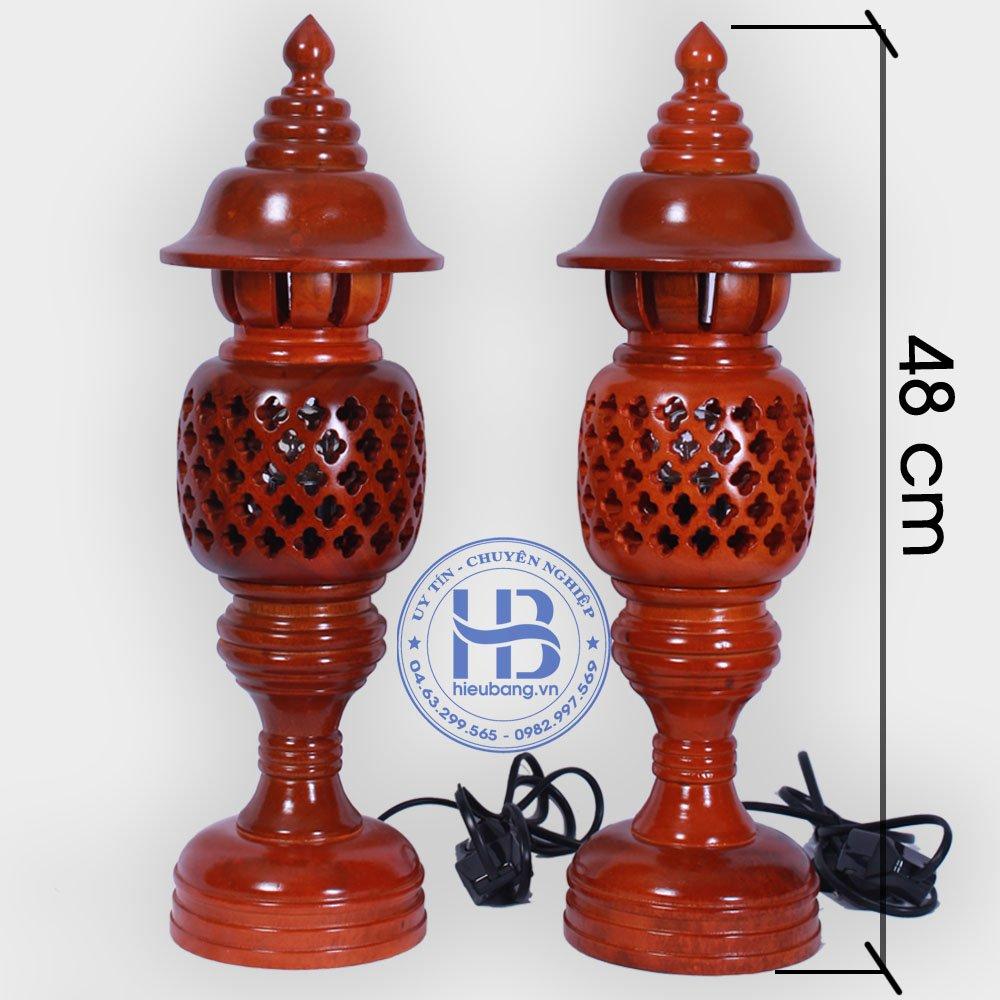 Đèn thờ gỗ to 48cm