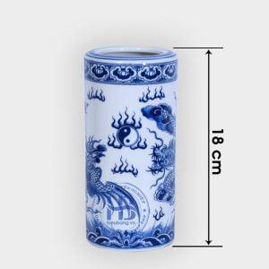Ống đựng hương xanh 18cm