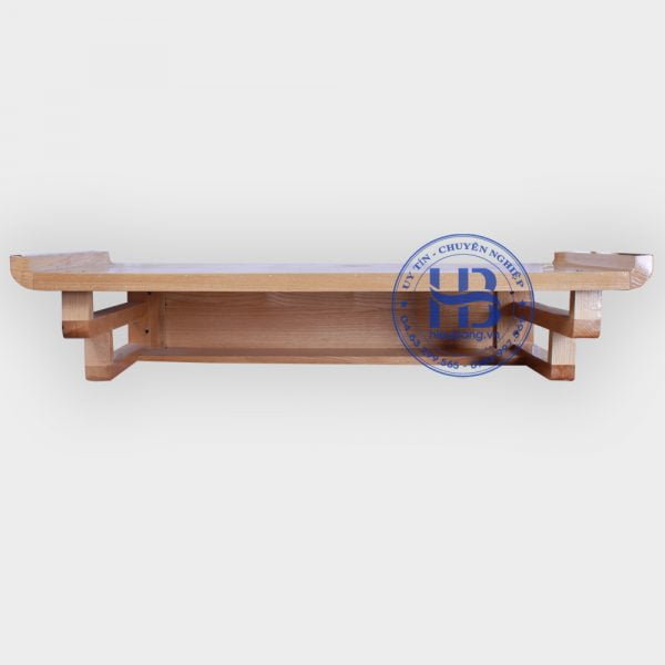 Bàn thờ treo tường hiện đại 2 tầng gỗ sồi 89cm