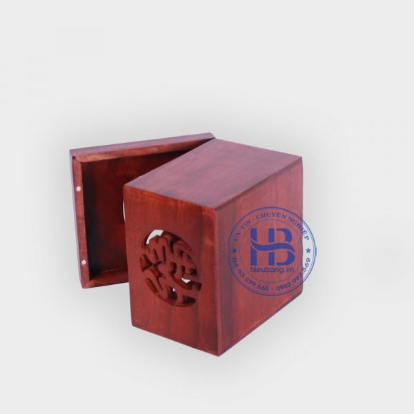 Hộp đựng giấy gỗ Hương