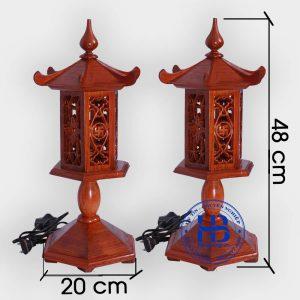Đèn thờ bằng gỗ hương