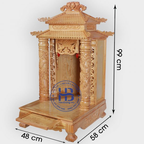 Bàn Thờ Thần Tài 8 Mái 48cm Đẹp Giá Rẻ Tại Hà Nội