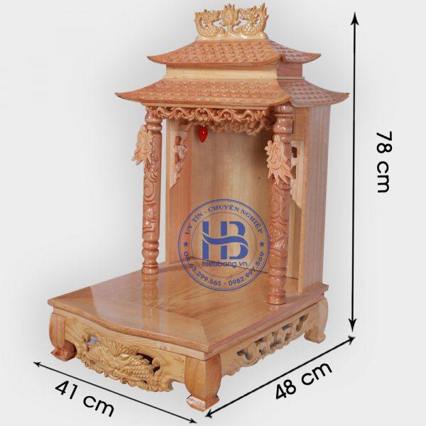 Bàn Thờ Thần Tài Mái Chùa 41cm Đẹp Rẻ Hà Nội