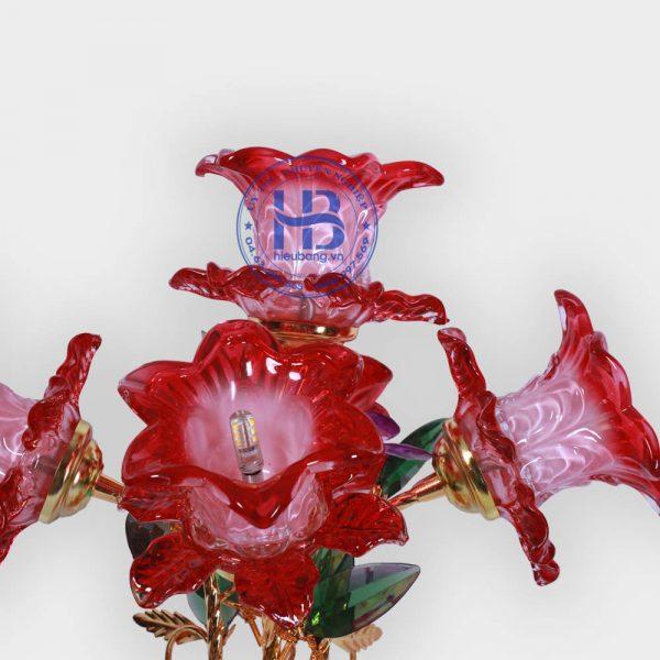Bình Hoa Sen 5 Bông Đỏ 56cm Đẹp Giá Rẻ Hà Nội
