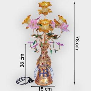 Bình Hoa Sen 5 Bông Vàng 78cm Đẹp Giá Rẻ Hà Nội