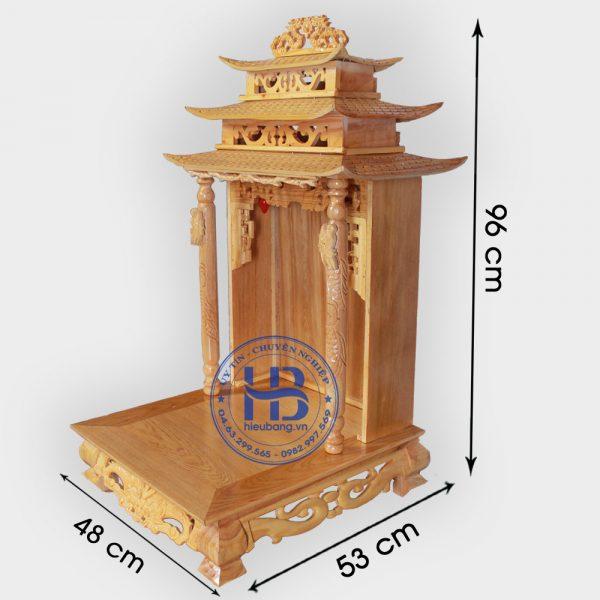 Bàn Thờ Thần Tài Mái Chùa 48cm Đẹp Giá Rẻ Ở Hà Nội | Cửa hàng Hiếu Bằng