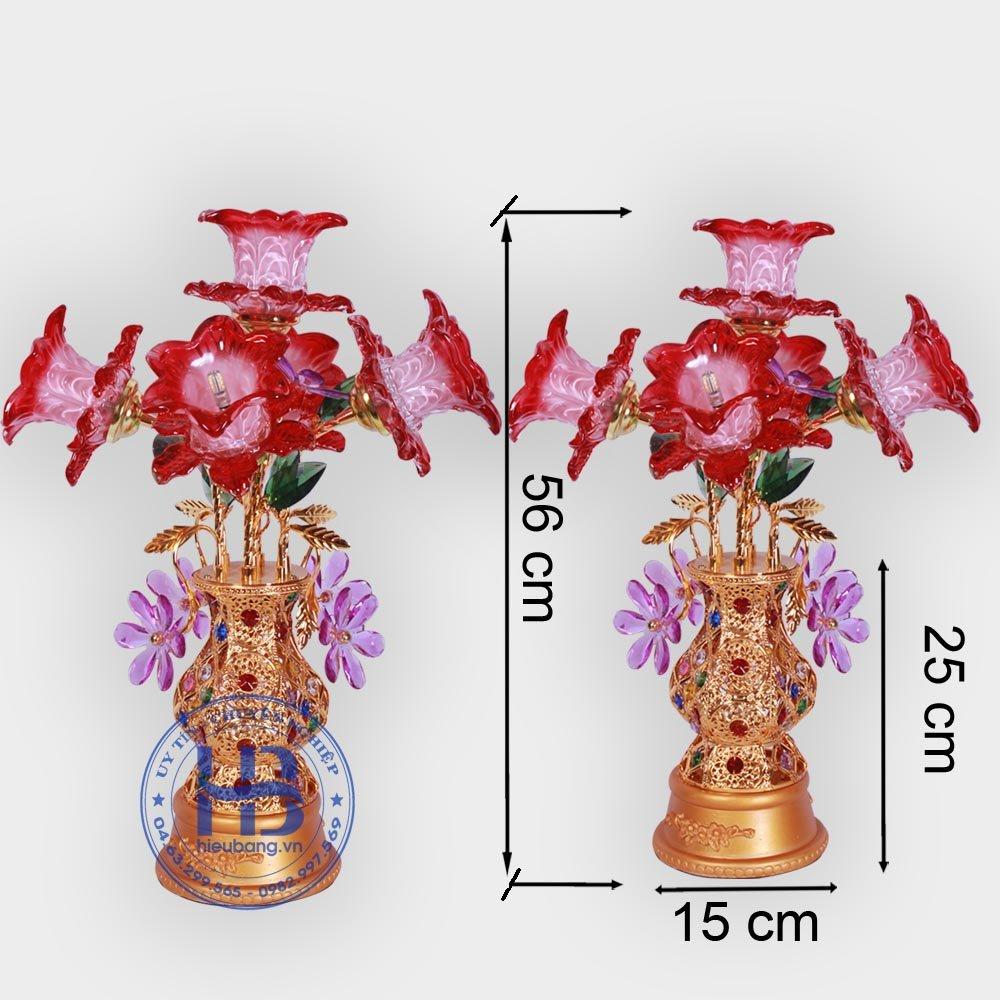 Bình Hoa Sen 5 Bông Đỏ 56cm Đẹp Giá Rẻ ở Hà Nội | Cửa hàng Hiếu Bằng