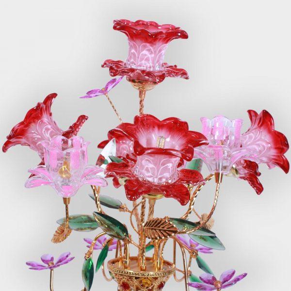 Bình Hoa Sen 5 Bông Đỏ 78cm Đẹp Giá Rẻ ở Hà Nội | Cửa hàng Hiếu Bằng