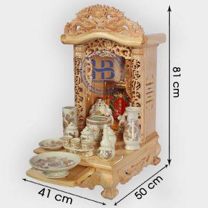 Bộ bàn thờ thần tài noc cong 41cm cơ bản vàng bé   Cửa hàng Hiếu Bằng