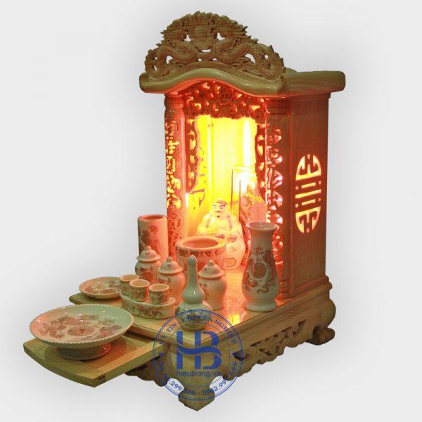 Bộ bàn thờ thần tài noc cong 41cm cơ bản vàng bé | Cửa hàng Hiếu Bằng