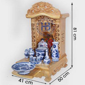 Bộ Bàn Thờ Thần Tài Nóc Cong 41cm Cơ Bản Xanh   Cửa hàng Hiếu Bằng