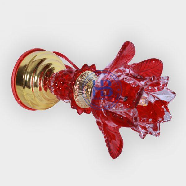 Đèn Thờ Điện Led Thủy Tinh 1 Bông Đỏ 20cm Đẹp Giá Rẻ ở Hà Nội | Cửa hàng Hiếu Bằng