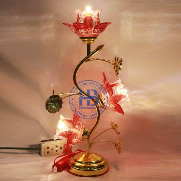 Đèn Thờ Điện Led Pha Lê 3 Bông 45cm Đẹp Giá Rẻ ở Hà Nội