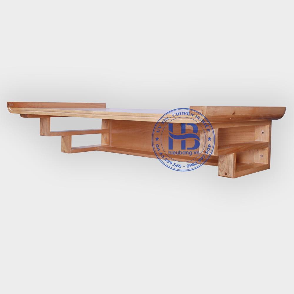 Bàn Thờ Treo Tường Chung Cư Gỗ Sồi 89x48cm Đẹp Giá Rẻ ở Hà Nội | Cửa hàng HIếu Bằng