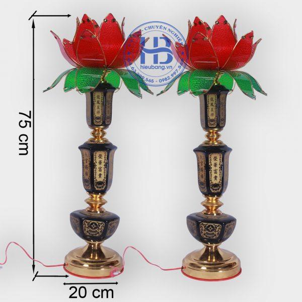 Đèn Thờ Hoa Sen 1 Bông 75cm Đẹp Giá Rẻ ở Hà Nội   Cửa hàng Hiếu Bằng