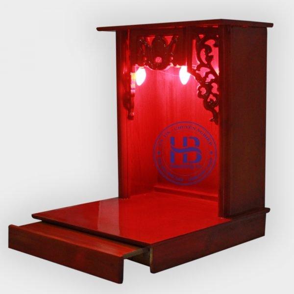 Bàn Thờ Thần Tài Giá Rẻ 36cm Màu Gụ Đẹp ở Hà Nội | Cửa hàng Hiếu Bằng
