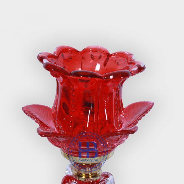Đèn Thờ Thủy Tinh 1 Bông Đỏ 30cm Đẹp Giá Rẻ ở Hà Nội | Cửa hàng hiếu Bằng