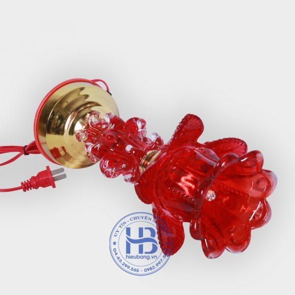Đèn Thờ Thủy Tinh 1 Bông Đỏ 30cm Đẹp Giá Rẻ ở Hà Nội   Cửa hàng hiếu Bằng