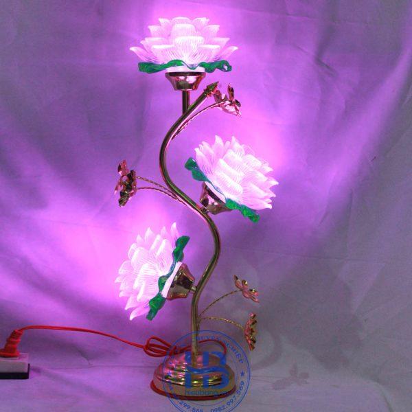 Đèn Thờ Led Hoa Sen 3 Bông Trắng 55cm Đẹp Giá Rẻ ở Hà Nội | Cửa hàng Hiếu Bằng