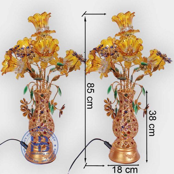 Bình Hoa Sen 5 Bông màu Vàng 85cm Đẹp Giá Rẻ ở Hà Nội | Cửa hàng Hiếu Bằng