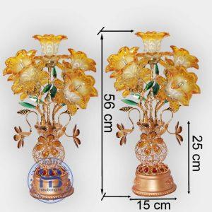 Bình Hoa Sen 5 Bông Màu Vàng 56cm Đẹp Giá Rẻ ở Hà Nội   Cửa hàng Hiếu Bằng