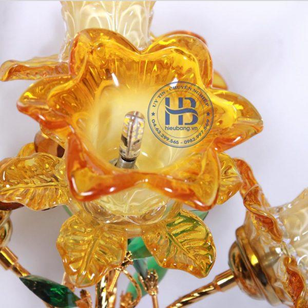 Bình Hoa Sen 5 Bông Màu Vàng 56cm Đẹp Giá Rẻ ở Hà Nội | Cửa hàng Hiếu Bằng
