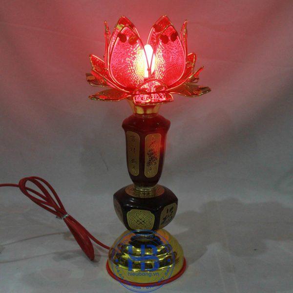 Đèn Thờ Cúng Hoa Sen 1 Bông Đỏ 35cm Đẹp Giá Rẻ ở Hà Nội | Cửa hàng Hiếu Bằng