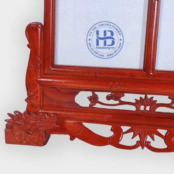 Khung Ảnh Thờ Đôi Gỗ Hương 20x30cm Chân Rồng Đẹp Giá Gốc ở Hà Nội | Cửa hàng Hiếu Bằng