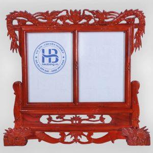 Khung Ảnh Thờ Đôi Gỗ Hương Đục Rồng 20x30cm Đẹp Giá Gốc ở Hà Nội   Cửa hàng Hiếu Bằng